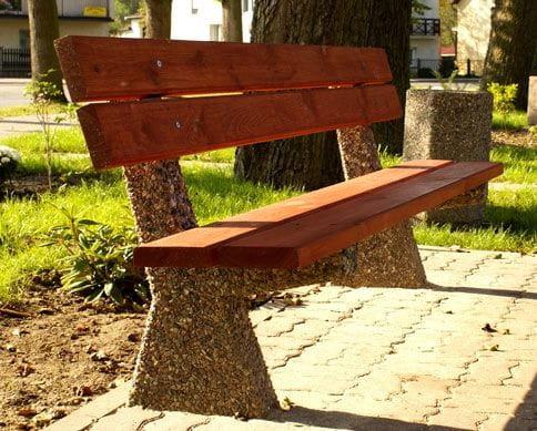 Ławka betonowa z oparciem POLA