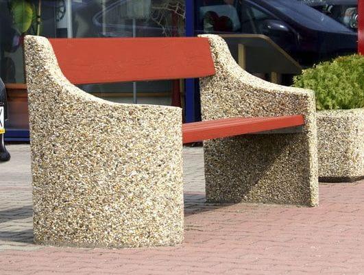 Ławka betonowa z oparciem DONA